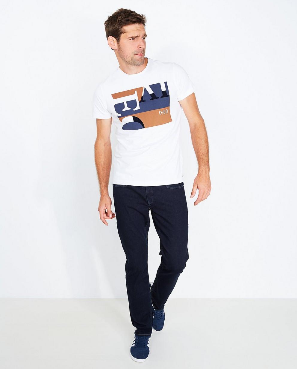 T-shirt blanc  - imprimé, en coton bio - Iveo